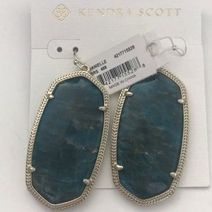 Kendra Scott aqua apatite Danielle earrings NWT